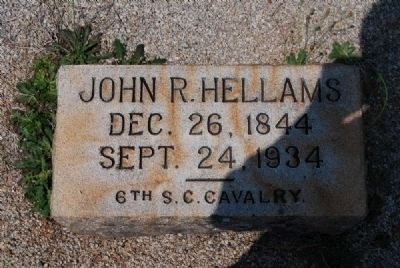 John R. Hellams Tombstone image. Click for full size.