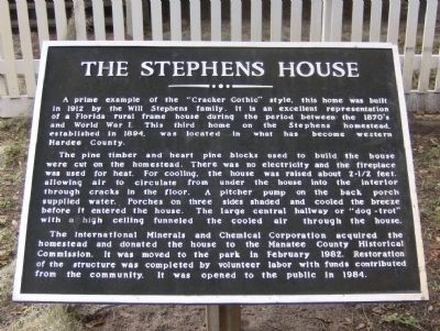 The Stephens House Marker image. Click for full size.