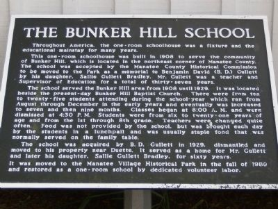 The Bunker Hill School Marker image. Click for full size.
