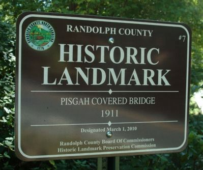 Pisgah Covered Bridge Marker image. Click for full size.