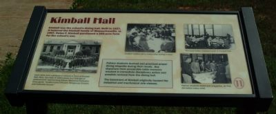 Kimball Hall Marker image. Click for full size.