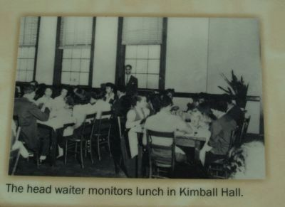 The head waiter monitors lunch in Kimball Hall. image. Click for full size.
