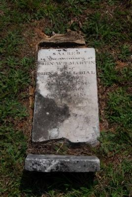 John William Martin Dial Tombstone image. Click for full size.