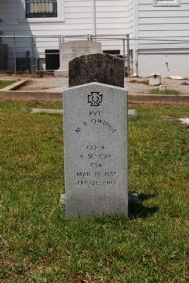Pvt. M.B. Owings Tombstone image. Click for full size.