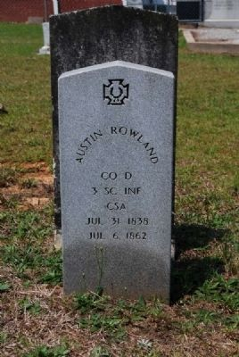 Austin Rowland Tombstone image. Click for full size.