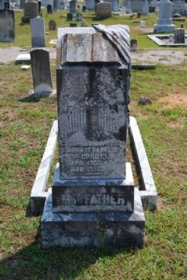 Pvt. John Franklin Curry -<br>Original Tombstone image. Click for full size.