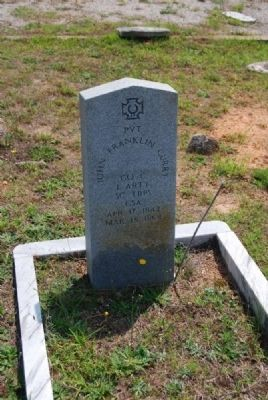 Pvt. John Franklin Curry Tombstone image. Click for full size.