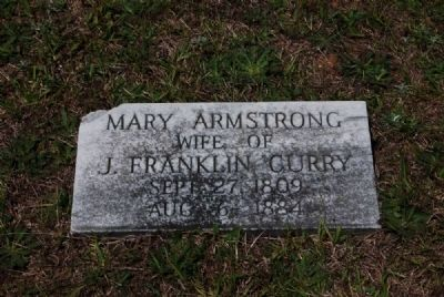 Mary Armstrong Tombstone image. Click for full size.
