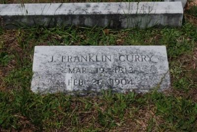 J. Franklin Curry Tombstone image. Click for full size.