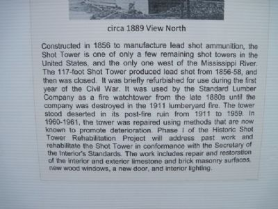 Shot Tower Info at site image. Click for full size.