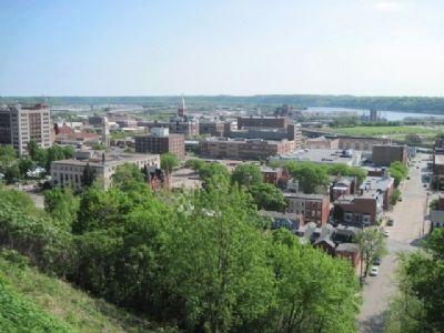 View from the top looking over downtown Dubuque. image. Click for full size.