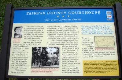 Fairfax County Courthouse Marker image. Click for full size.