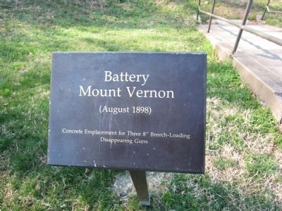 Battery Mount Vernon Sign image. Click for full size.