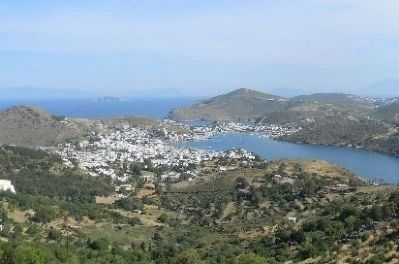 Skala Village and Patmos Harbor image. Click for full size.