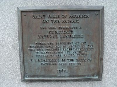 Great Falls of Paterson on the Passaic Marker image. Click for full size.