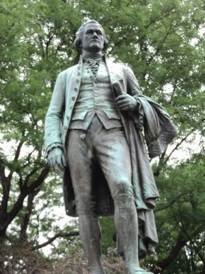 Closeup of Hamilton Statue image. Click for full size.
