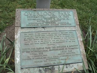 Overlook Park Marker image. Click for full size.