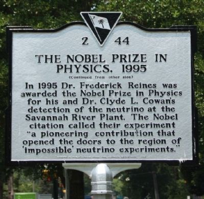 The Nobel Prize In Physics, 1995 Marker image. Click for full size.