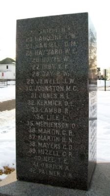 World War I Memorial Honored Dead image. Click for full size.