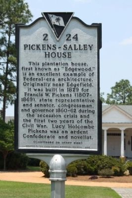 Pickens - Salley House Marker image. Click for full size.