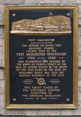 Fort Washington Marker image. Click for full size.