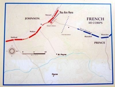 Advance of the Union III Corps from Jacob's Ford image. Click for full size.