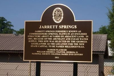 Jarrett Springs Marker image. Click for full size.
