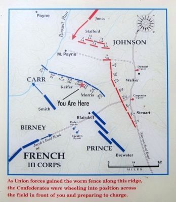 Troop alignments across the open fields on Payne's Farm image. Click for full size.