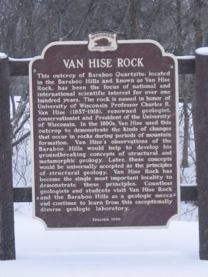 Another Van Hise Rock Marker image. Click for full size.