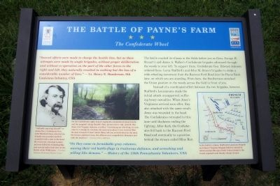 The Battle of Payne's Farm CWT Marker image. Click for full size.