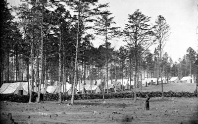 Brandy Station, Virginia. Camp at headquarters, Army of the Potomac image. Click for full size.