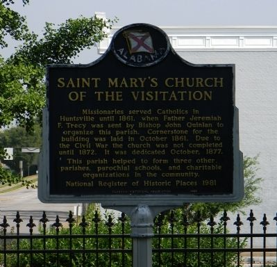 Saint Mary's Church of the Visitation Marker image. Click for full size.