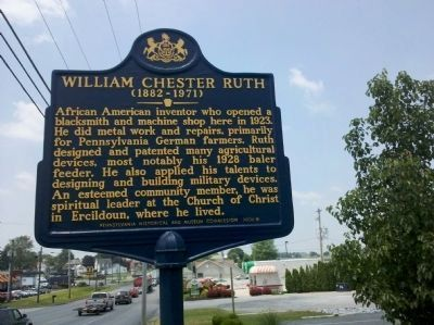 William Chester Ruth Marker image. Click for full size.