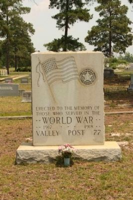 Graniteville Cemetery WW I Memorial image. Click for full size.
