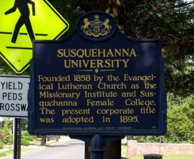 Susquehanna University Marker image. Click for full size.