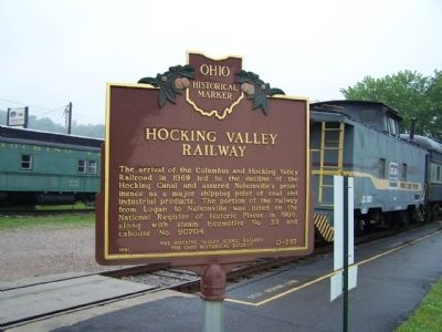 Hocking Valley Railway Marker image. Click for full size.