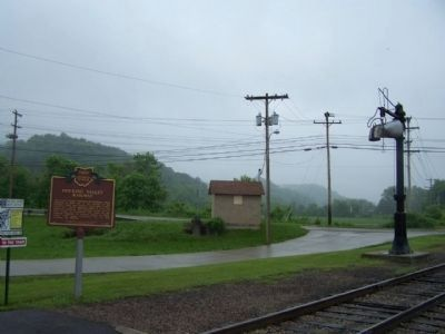 Hocking Valley Railway Marker, seen near Hocking Parkway image. Click for full size.