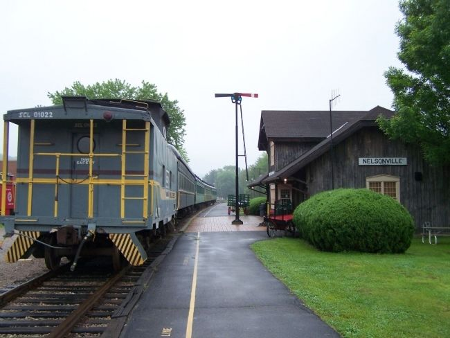 Hocking Valley Railway Nelsonville Station image. Click for full size.