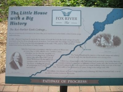 The Little House with a Big Story Marker image. Click for full size.