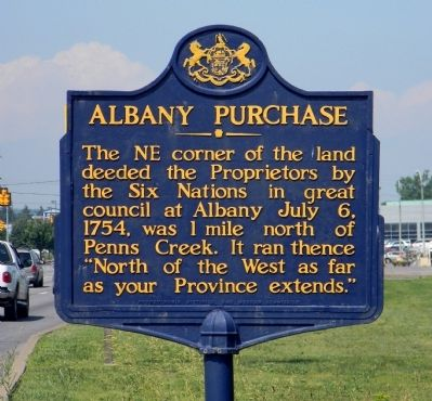 Albany Purchase Marker image. Click for full size.