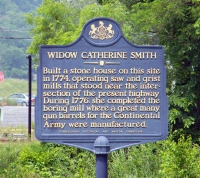 Widow Catherine Smith Marker image. Click for full size.