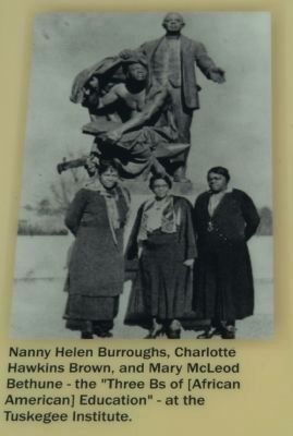 Nancy Helen Burroughs, Charlotte Hawkins Brown, and Mary McLeod Bethune image. Click for full size.