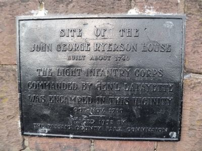Site of John George Ryerson House Marker image. Click for full size.