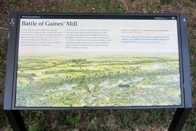 Battle of Gaines' Mill Marker image. Click for full size.