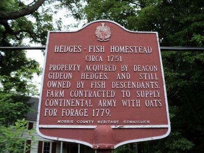 Hedges – Fish Homestead Marker image. Click for full size.