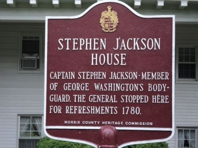 Stephen Jackson House Marker image. Click for full size.