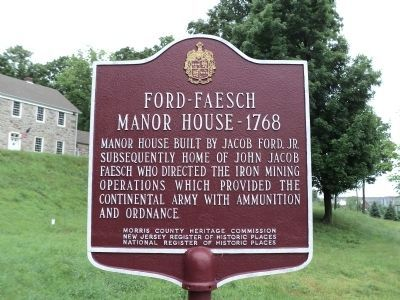 Ford – Faesch Manor House Marker image. Click for full size.