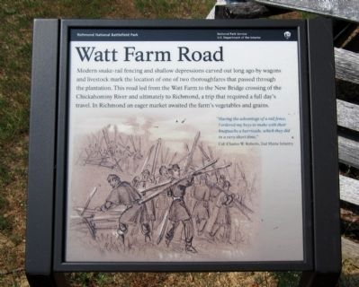 Watt Farm Road Marker image. Click for full size.