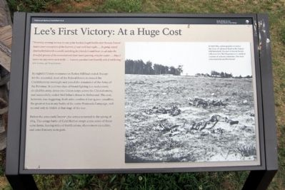 Lee's First Victory: At a Huge Cost Marker image. Click for full size.