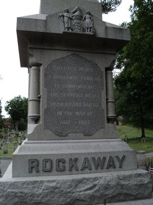 Rockaway Civil War Monument Marker image. Click for full size.